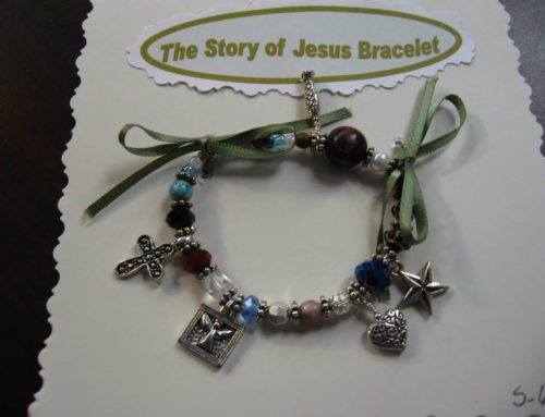 Story of Jesus Bracelets on sale at Holiday Boutique this weekend.