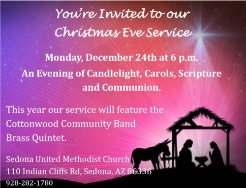 Christmas Eve Worship Starts at 6:00pm at Sedona UMC