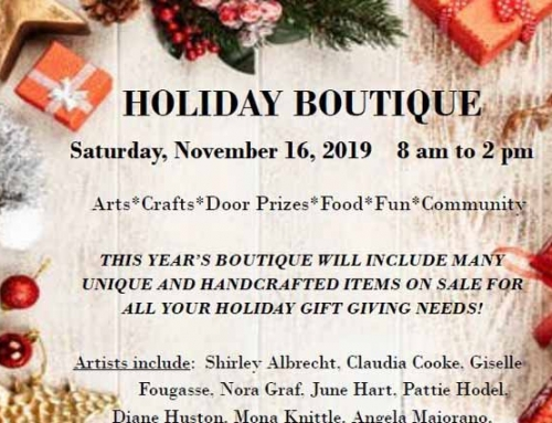 Don't Miss the Holiday Boutique at Sedona United Methodist Church 11/16/2019