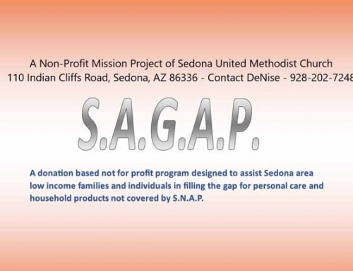 Sedona Area Gap Assist Program (SAGAP) at Clark's Non-Profit Monday 6/22/20