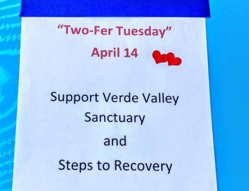 "Drop off your ""Two-Fer Tuesday"" Donations at Sedona UMC"